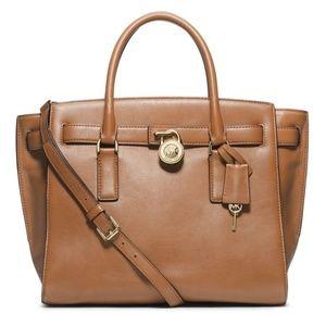Michael Kors Hamilton Traveler LG Leather Satchel